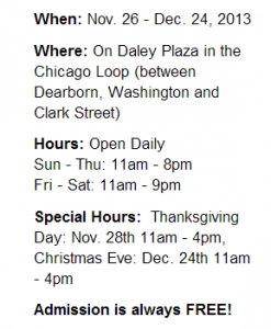 Christkindlmarket-Chicago-Hours