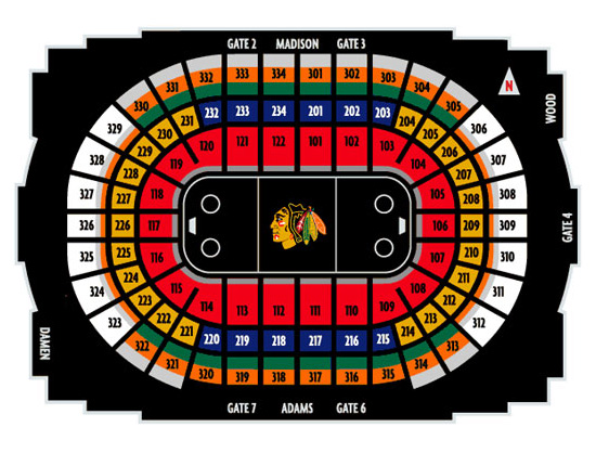 The Gallery For Gt Chicago Blackhawks Stadium Seating