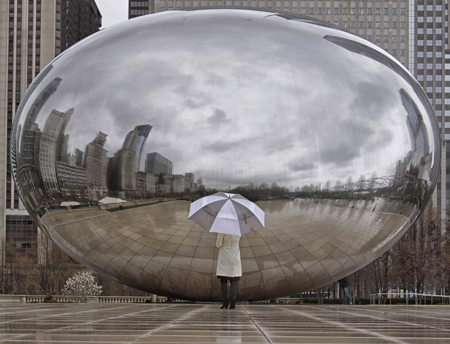 cloudgate | Chicago rainy day