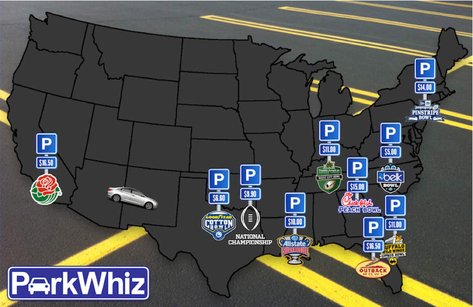 Rose Bowl, Outback Bowl Have Priciest Parking Of College Football Bowls
